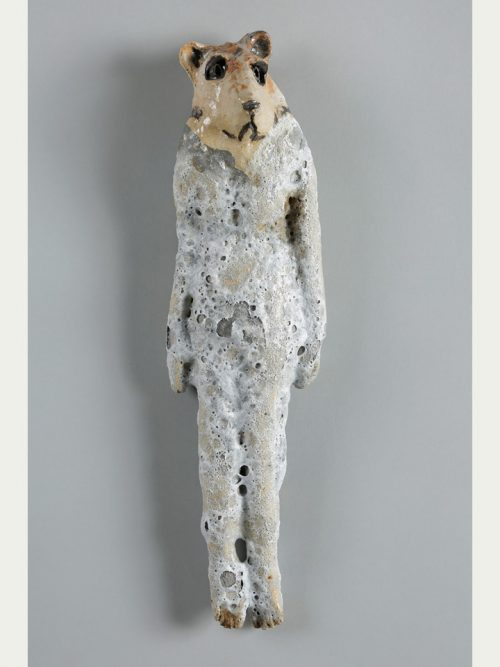 Ceramic spirit guide wall hanging by artist Mark Chatterley.