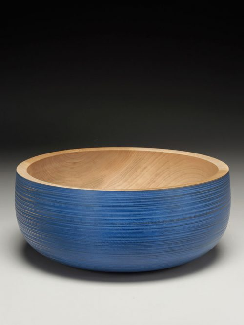 Maple turned bowl by woodworker Mark Gardner.