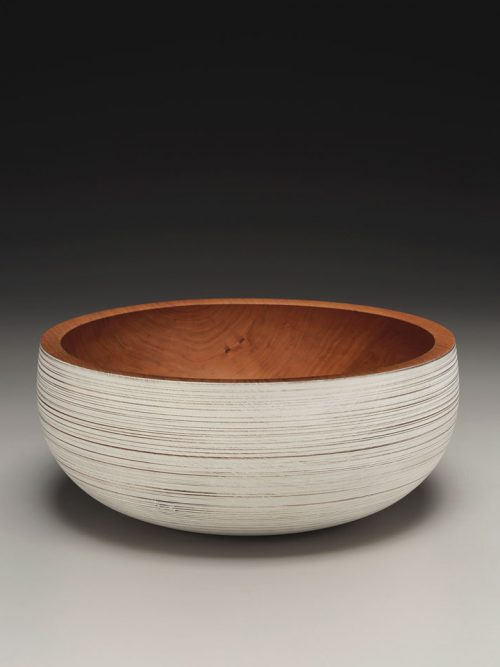 Wooden bowl turned from local hardwoods by artist Mark Gardner.