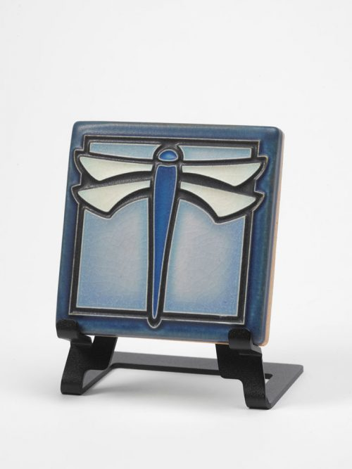 Dragonfly art tile by Motawi Tileworks.