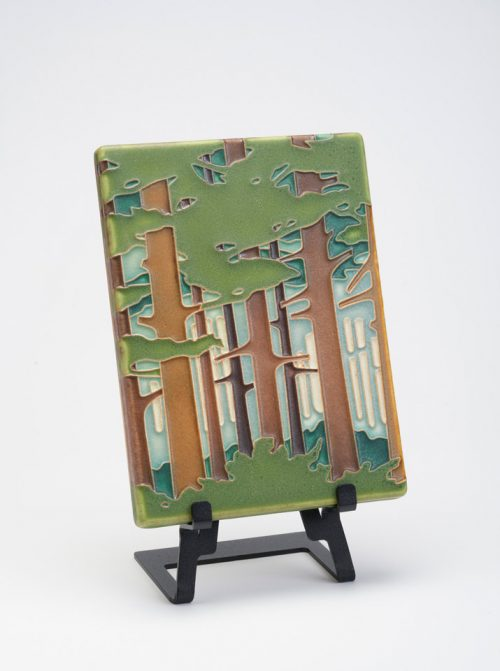 Spring Woodland ceramic art tile by Motawi Tileworks.
