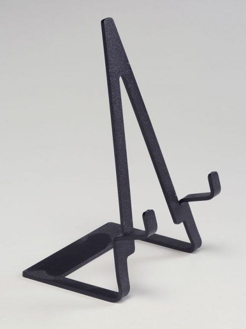 Steel display easel for ceramic and wooden tiles.