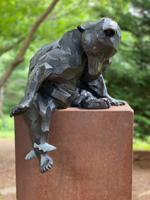 Limited edition black bear sculpture by Roger Martin.