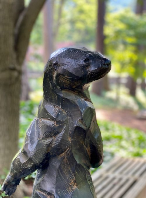 Bronze fine art sculpture by North Carolina wildlife sculptor Roger Martin.