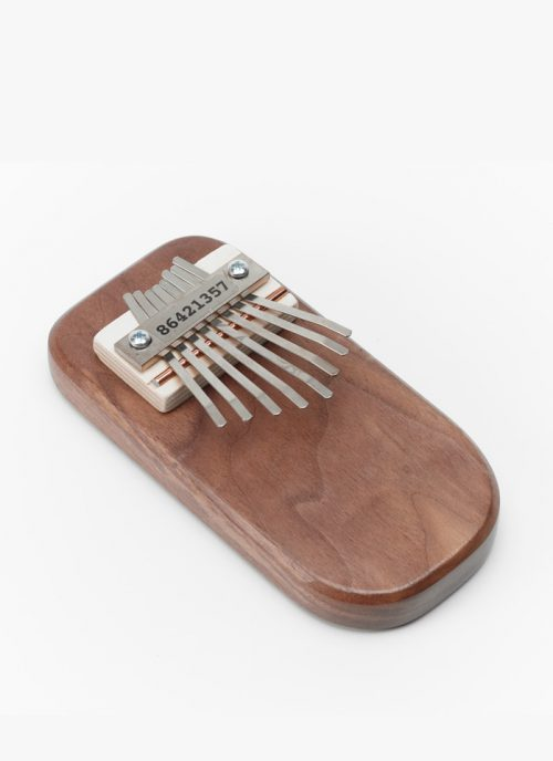 Cedar box thumb piano by Paul and Sue Bergstrom of Mountain Melodies.
