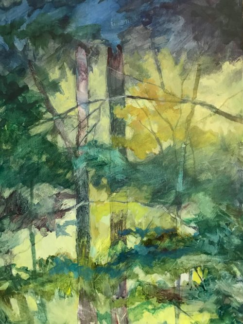Painting of Craggy Garden hike by Hendersonville, North Carolina artist Cynthia Wilson.