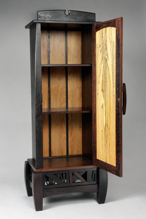 Handcrafted cabinet by North Carolina furniture maker Neil Carroll.