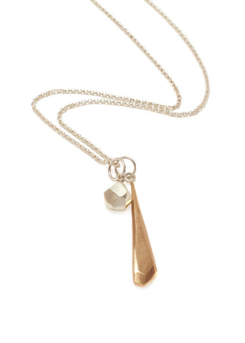 Faceted dagger pendant by North Carolina artist Audrey Laine.