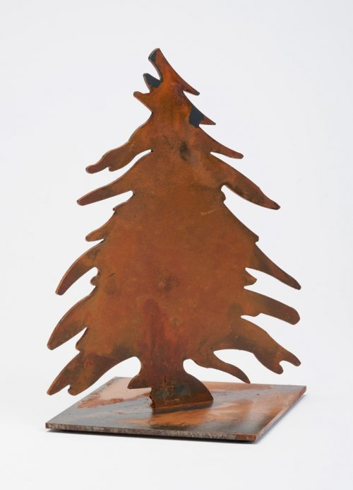 Six-inch metal tree handcrafted by Prairie Dance.