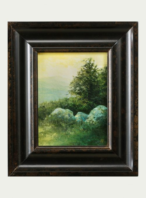 Oil painting by artist Shawn Krueger titled Elk Mountain View.