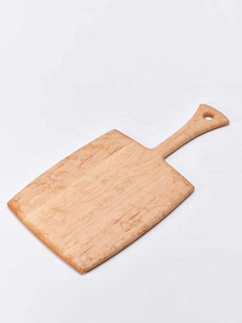 Wooden bread board handcrafted by Edward S. Wohl.