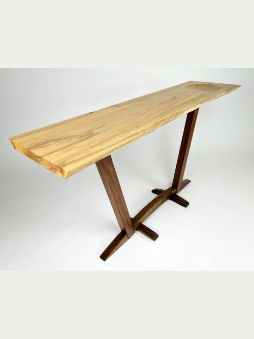 Handcrafted console table by North Carolina furniture maker John Parkinson.