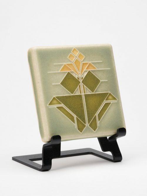 Ceramic art tile by Motawi Tileworks inspired by the Avery Coonley House designed by Frank Lloyd Wright.