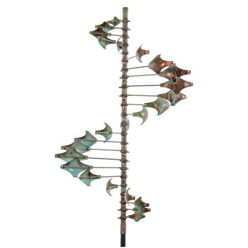 Single Helix Star Wind Sculpture by Lyman Whitaker.
