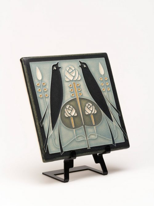 Ceramic songbirds tile handmade by Motawi Tileworks.