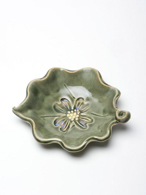 Handmade ceramic blossom bowl by North Carolina studio potter Vicki Gill of Bluegill Pottery.