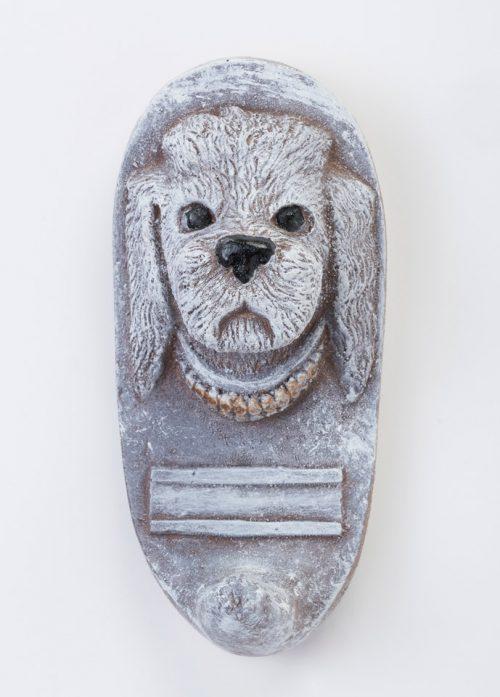 Handmade poodle dog leash holder by North Carolina artist John D. Richards.