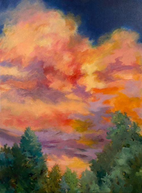 Acrylic painting by North Carolina artist Cynthia Wilson.