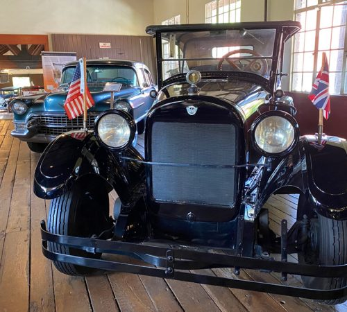 A 1923 REO Touring car on display at the Estes-Winn Antique Car Museum in Asheville, NC.